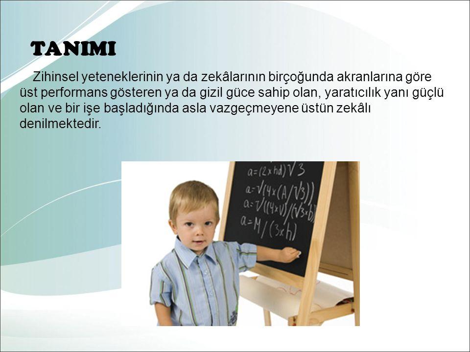 Ayrıca üstün zekalı ve üstün yetenekli çocuklar genellikle parlak çocuklarla karıştırılmaktadır.