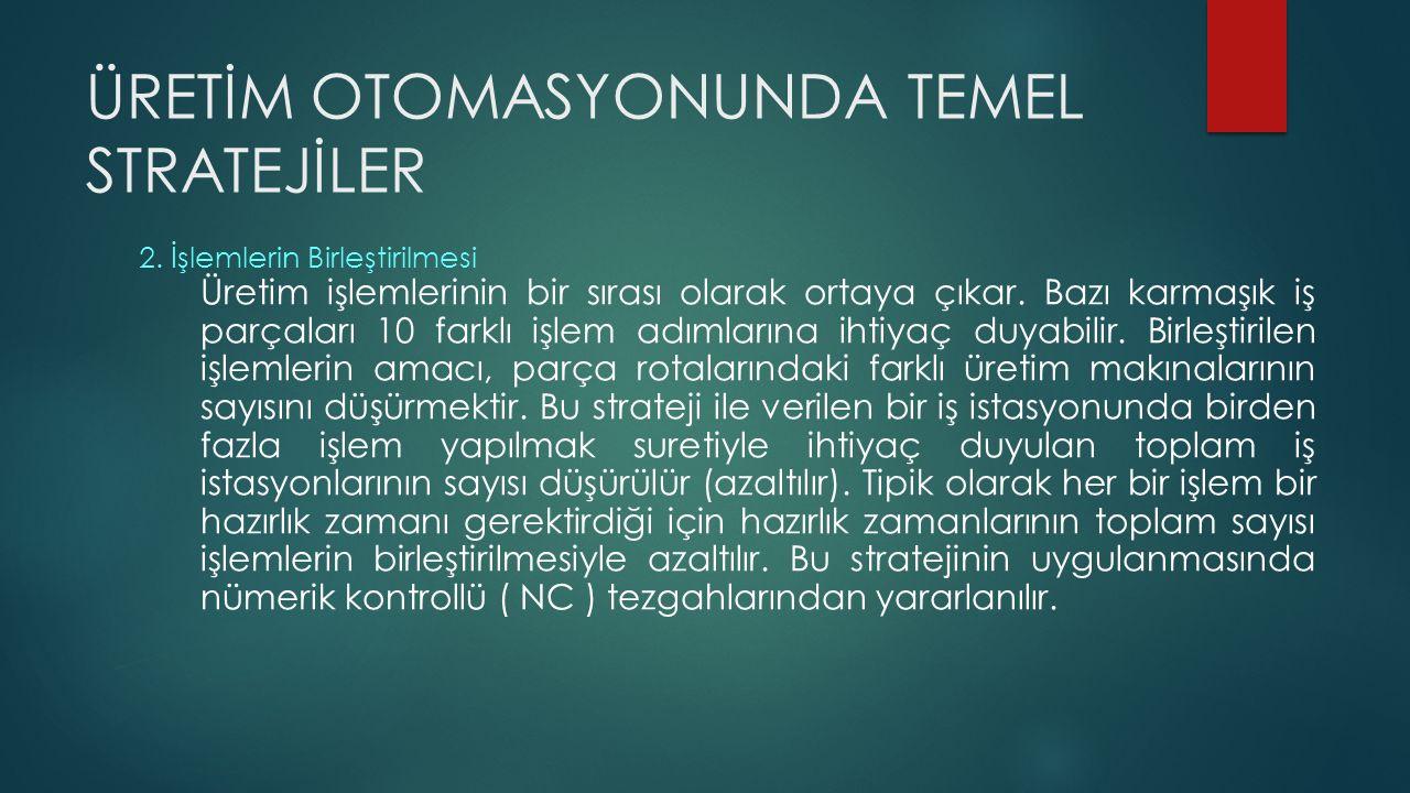 ÜRETİM OTOMASYONUNDA TEMEL STRATEJİLER 3.