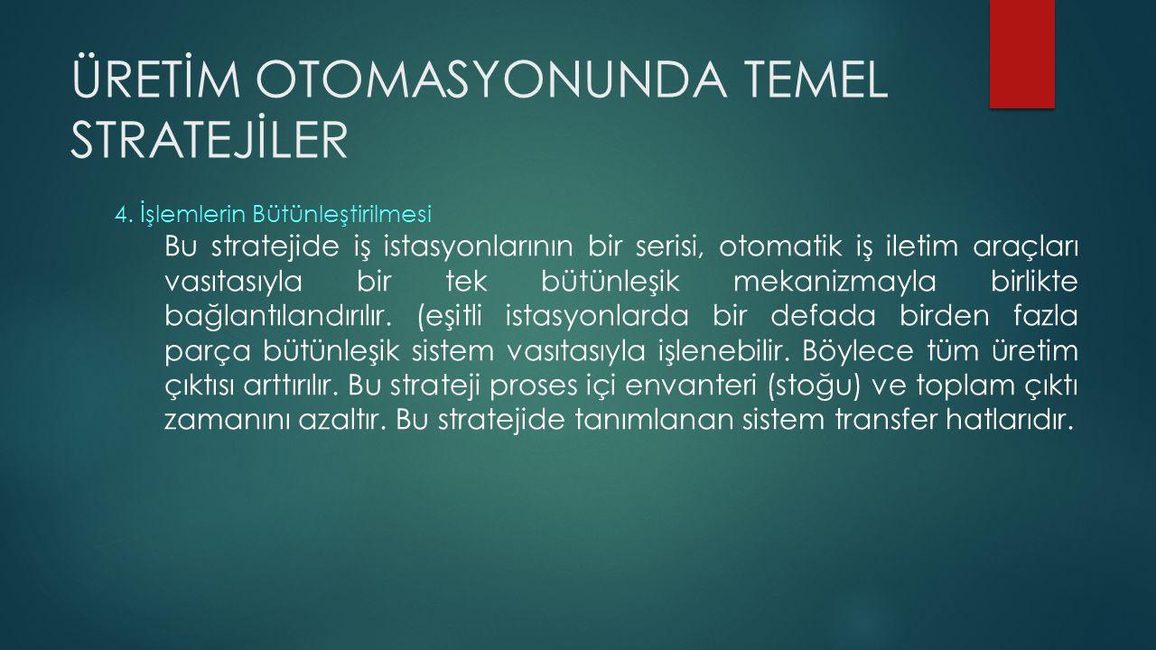 ÜRETİM OTOMASYONUNDA TEMEL STRATEJİLER 4.