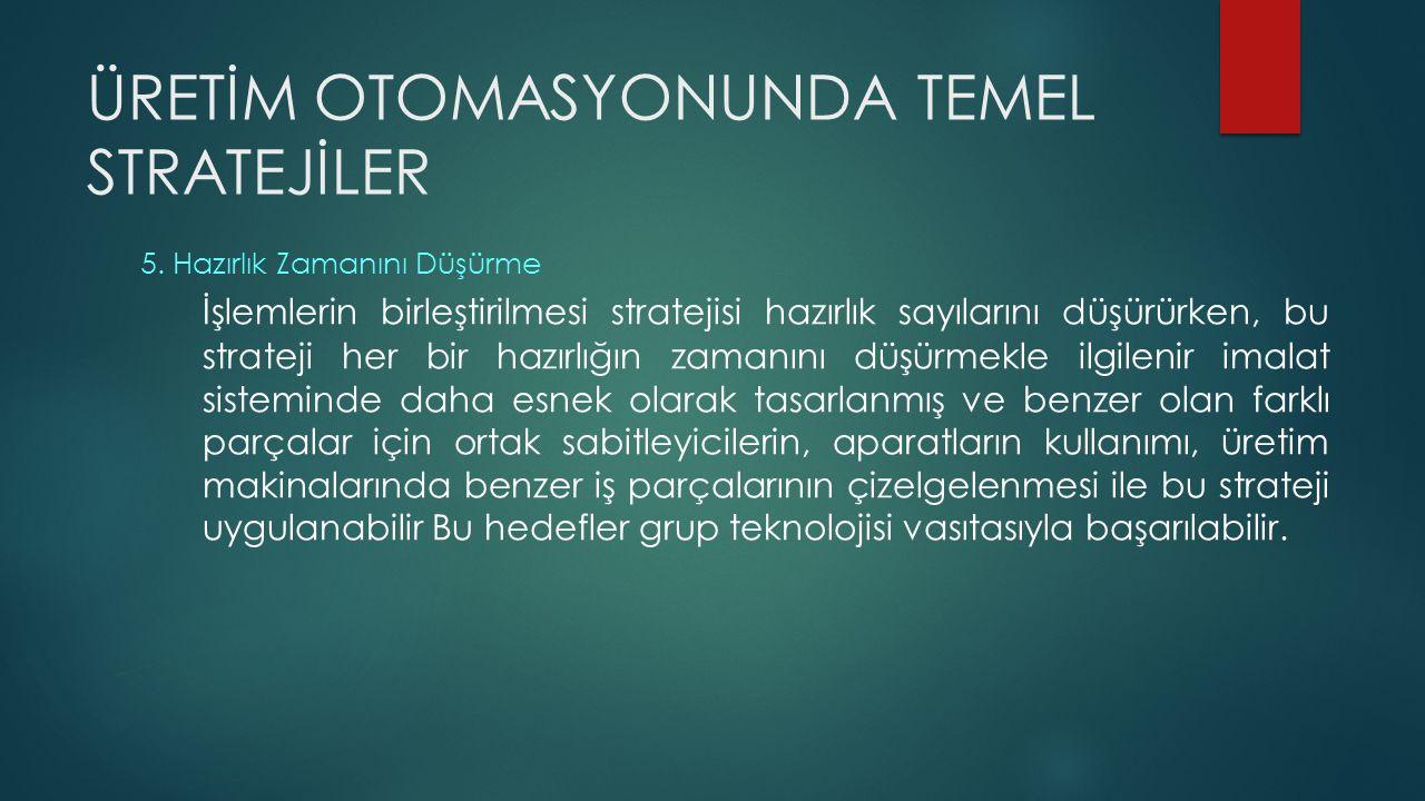 ÜRETİM OTOMASYONUNDA TEMEL STRATEJİLER 6.