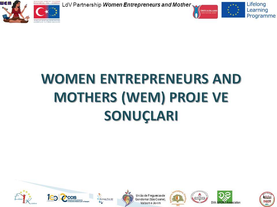 LdV Partnership Women Entrepreneurs and Mother União de Freguesias de Gondomar (São Cosme), Valbom e Jovim DIA-SPORT Association
