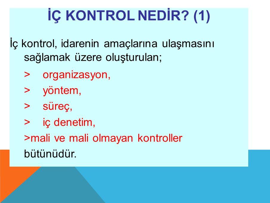 İÇ KONTROL NEDİR.