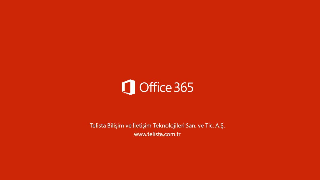 Telista Bilişim ve İletişim Teknolojileri San. ve Tic. A.Ş. www.telista.com.tr