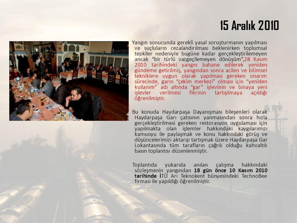 15 Aralık 2010 Yangın sonucunda gerekli yasal soruşturmanın yapılması ve suçluların cezalandırılması beklenirken toplumsal tepkiler nedeniyle bugüne k