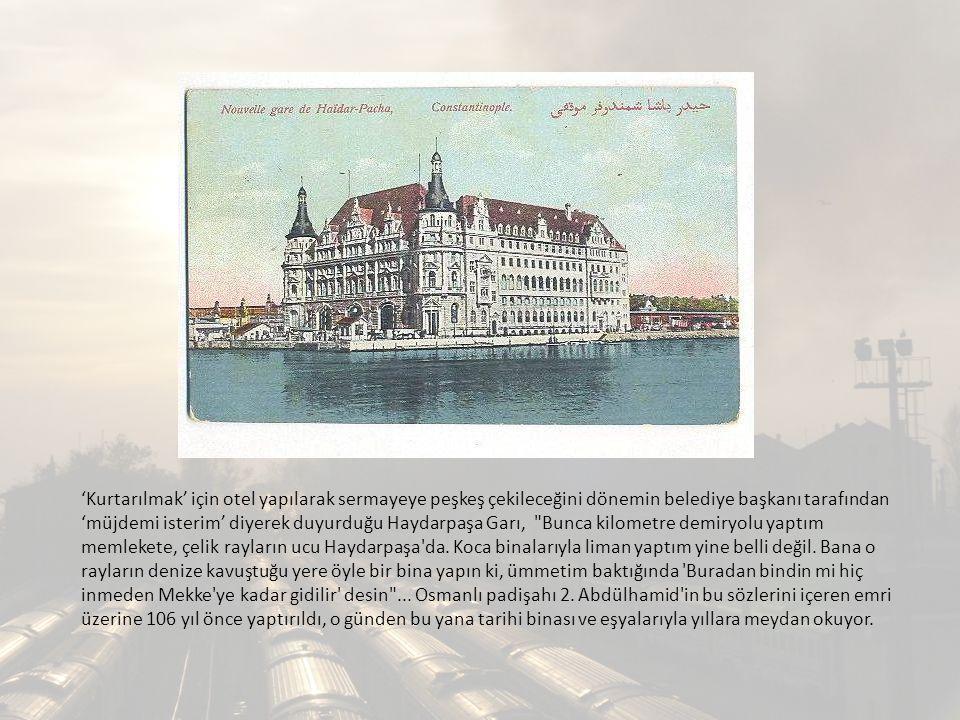 5/12 Ekim 2012 18 Ekim 2012TMMOB Mimarlar Odası İstanbul Büyükkent Şubesi, TMMOB Şehir Plancıları Odası İstanbul Şubesi, Birleşik Taşımacılık Çalışanları Sendikası ve Liman-İş (Türkiye Liman ve Kara Tahmil Tahliye İşçileri Sendikası) tarafından İstanbul Büyükşehir Belediye Başkanlığı na, İstanbul Büyükşehir Belediye Meclisinin 25.11.2011 gün ve 2731 sayılı kararı ile kabul edilen edilen Üsküdar İlçesi, Harem Bölgesi ile Haydarpaşa Liman Geri Sahası 1/5000 Ölçekli, 19.06.2012 Tasdik Tarihli Nazım İmar Planı nın öncelikle yürütmesinin durdurulması ve iptali istemi ile dava açılmıştır.