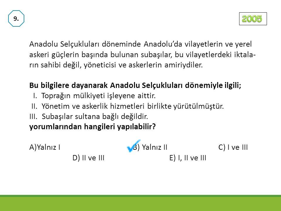 Anadolu Selçukluları XI. yüzyıl sonlarından XII. yüzyıl sonlarına kadar Bizanslılar ve Haçlılarla savaşlar yapmışlardır. Bu savaşların, I. Anadolu'da