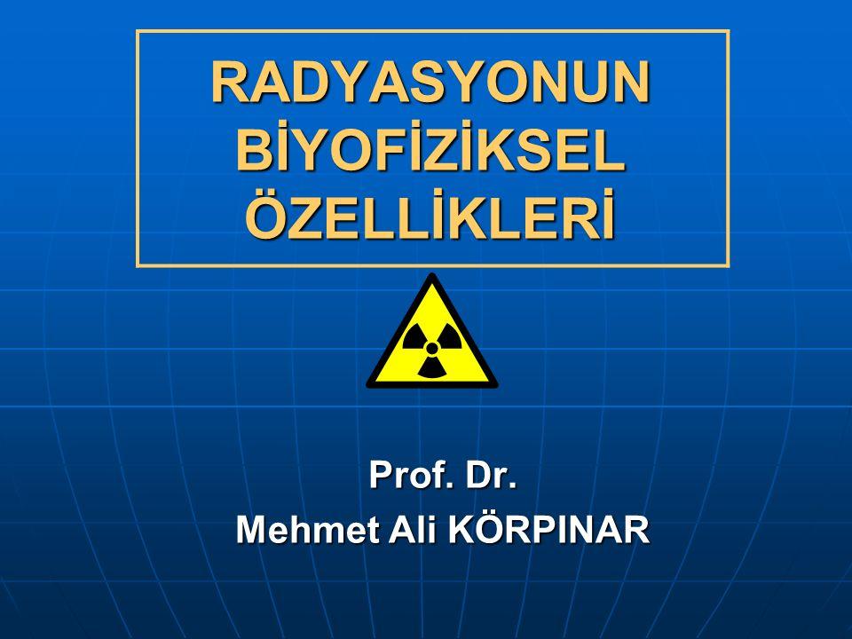 DİĞER IŞIMALAR: KOZMİK IŞIMA: Dış uzaydan dünyamıza gelen çok enerji yüklü proton kaynaklı partikül ışımasıdır.