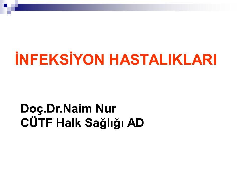 İNFEKSİYON HASTALIKLARI Doç.Dr.Naim Nur CÜTF Halk Sağlığı AD