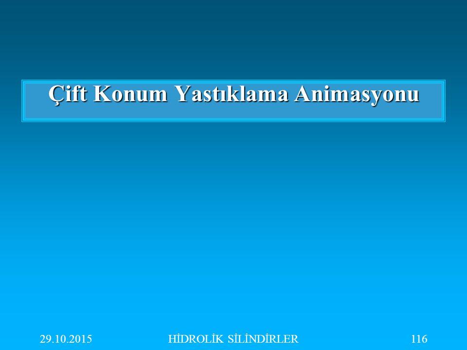29.10.2015HİDROLİK SİLİNDİRLER116 Çift Konum Yastıklama Animasyonu