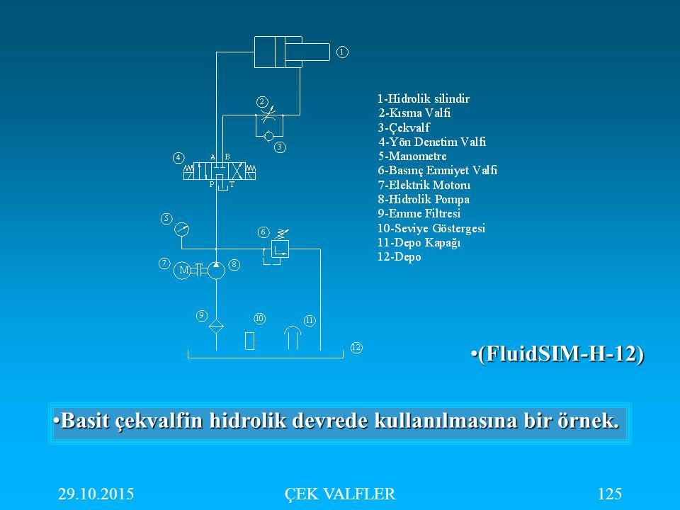 29.10.2015ÇEK VALFLER125 Basit çekvalfin hidrolik devrede kullanılmasına bir örnek.Basit çekvalfin hidrolik devrede kullanılmasına bir örnek. (FluidSI