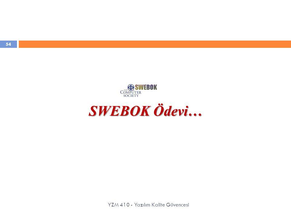 YZM 410 - Yazılım Kalite Güvencesi SWEBOK Ödevi… 54