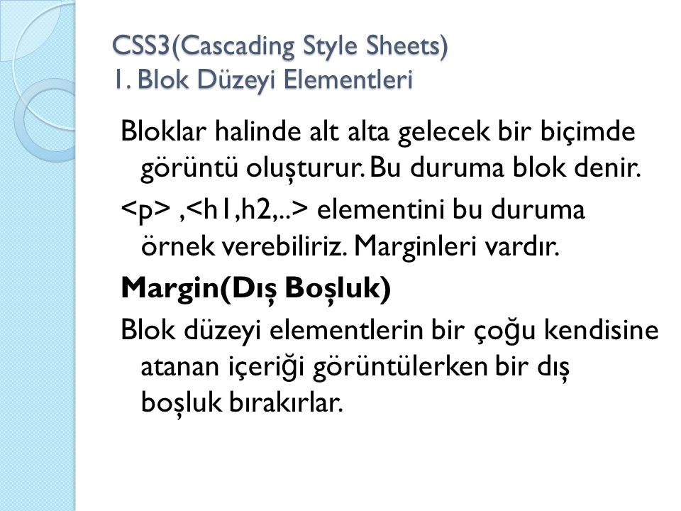 CSS3(Cascading Style Sheets) 1.
