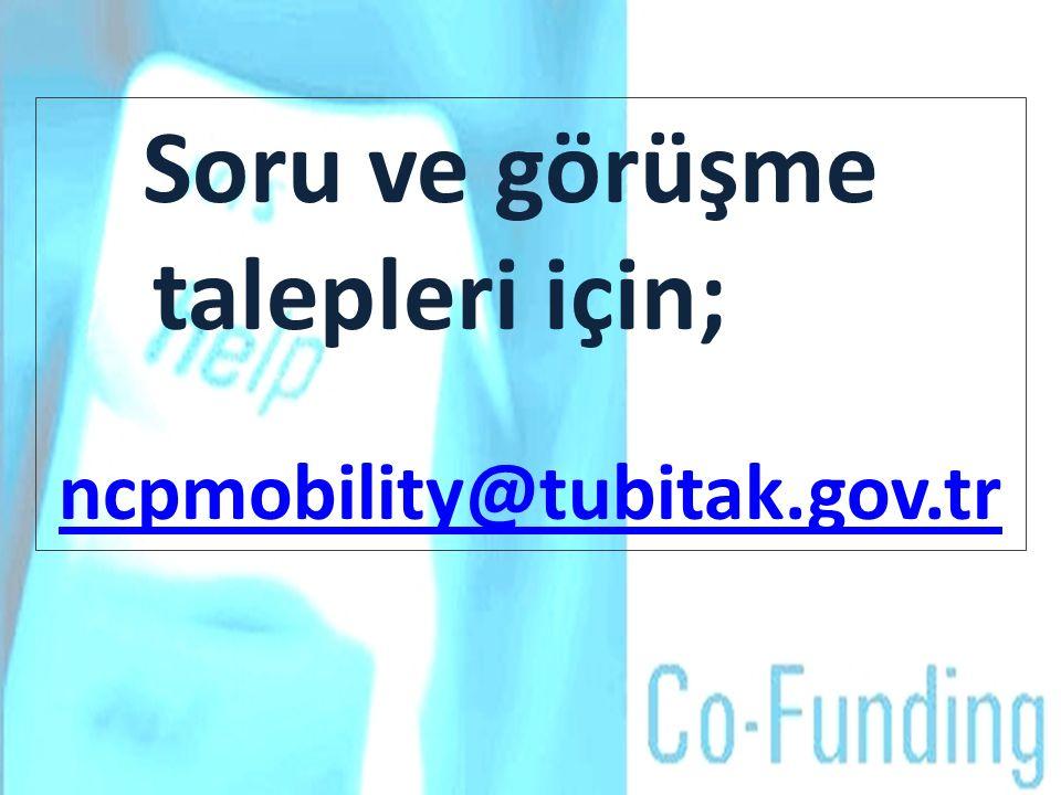 Soru ve görüşme talepleri için; ncpmobility@tubitak.gov.tr