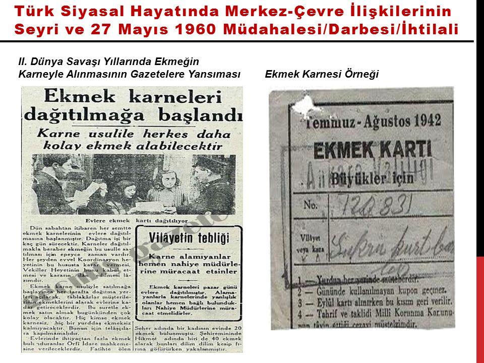 Türk Siyasal Hayatında Merkez-Çevre İlişkilerinin Seyri ve 27 Mayıs 1960 Müdahalesi/Darbesi/İhtilali İnönü'nün Kayseri Ziyareti ve Mitingi Haberi
