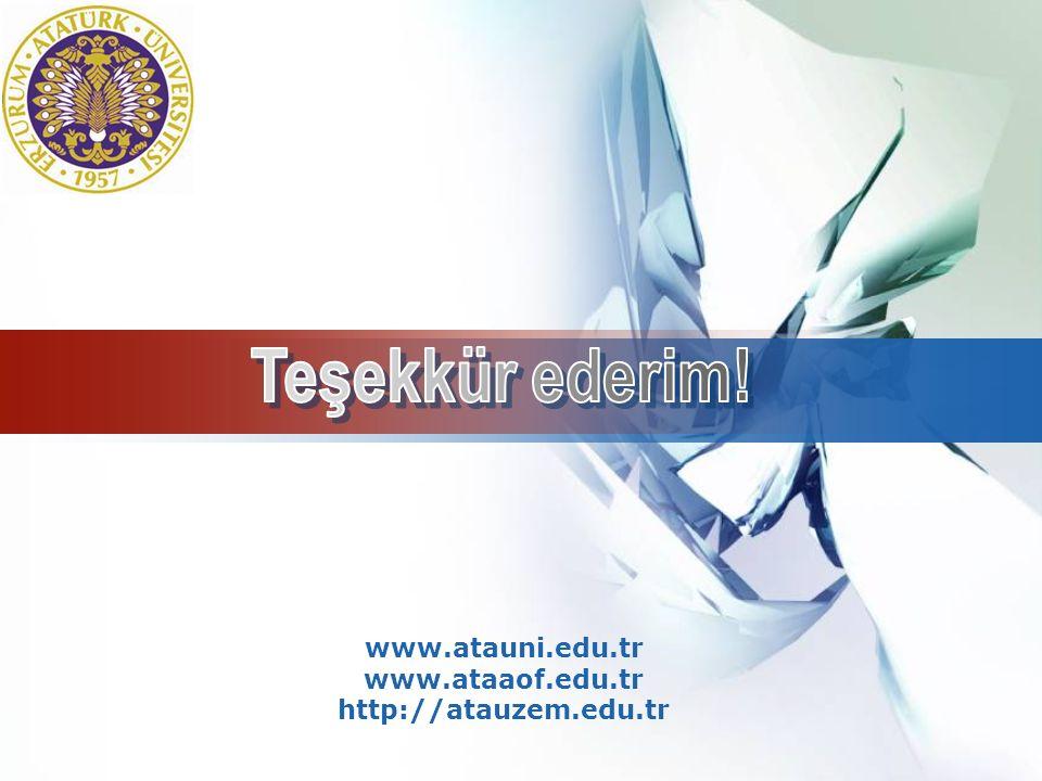 LOGO www.atauni.edu.tr www.ataaof.edu.tr http://atauzem.edu.tr