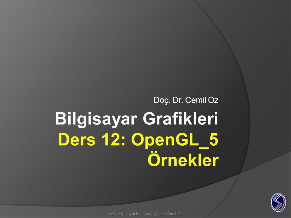 OpenGL Temel Çizim Örnekleri Boş pencere Oluşturma Pencere oluşturmak için glut(openGL araç takımı) fonksiyonlarını kullanıyoruz.