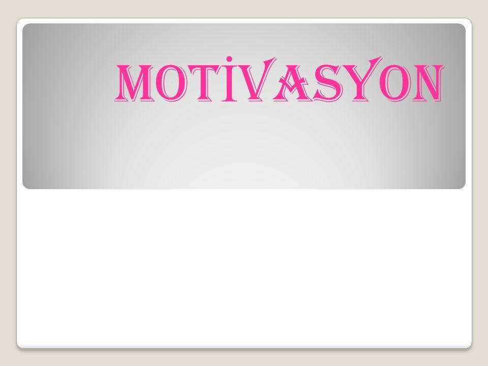 E) UMUTSUZLUĞA KAPILMA PES ETME Motivasyonun önündeki bir di ğ er iç etken de umutsuzlu ğ a kapılarak, pes etmedir.