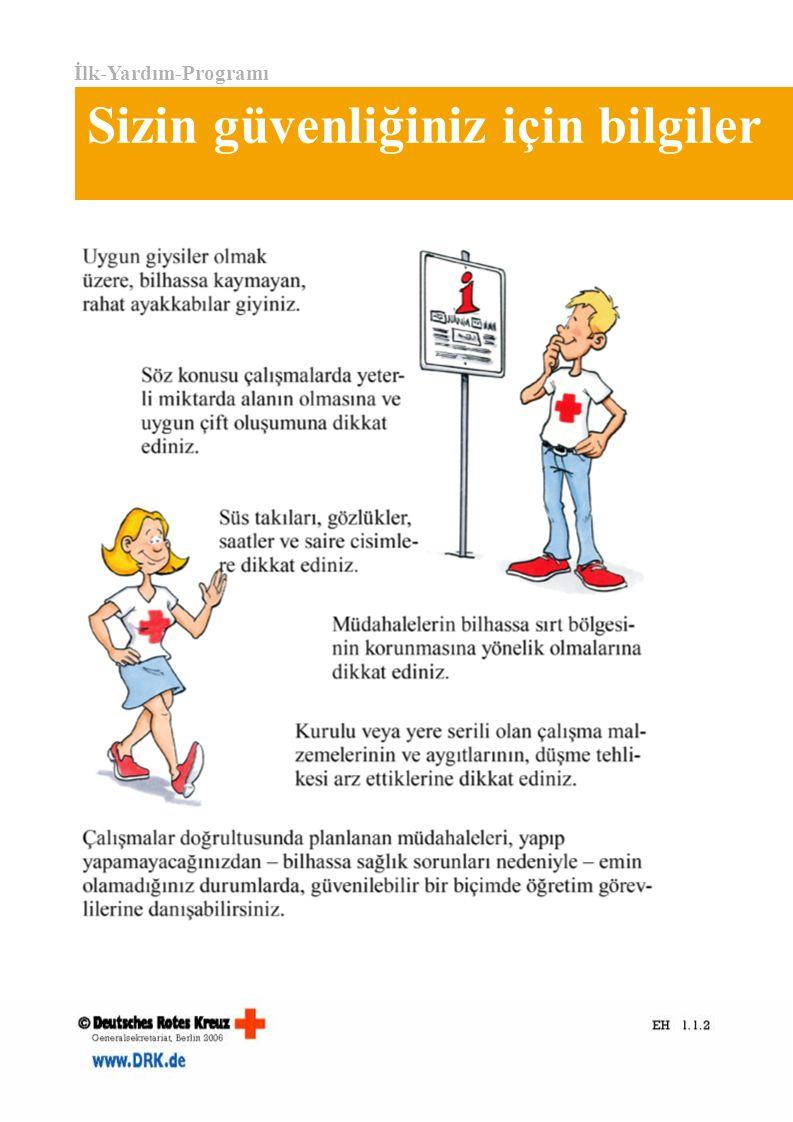 İlk-Yardım-Programı Sizin güvenliğiniz için bilgiler