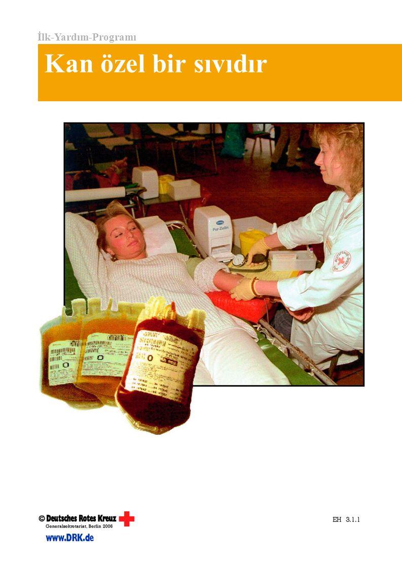 İlk-Yardım-Programı Kan özel bir sıvıdır