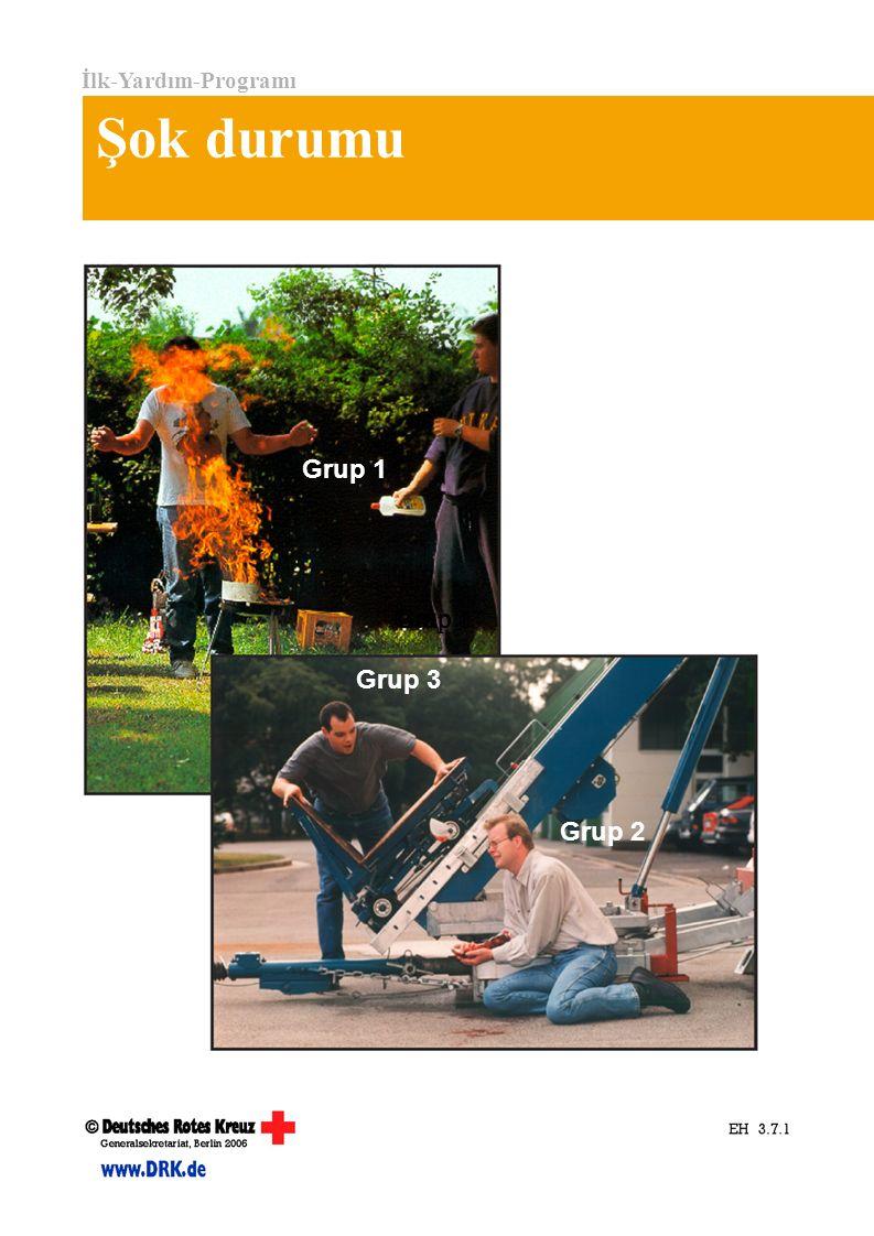 İlk-Yardım-Programı Şok durumu Grup 1 Grup 2 Grup 3