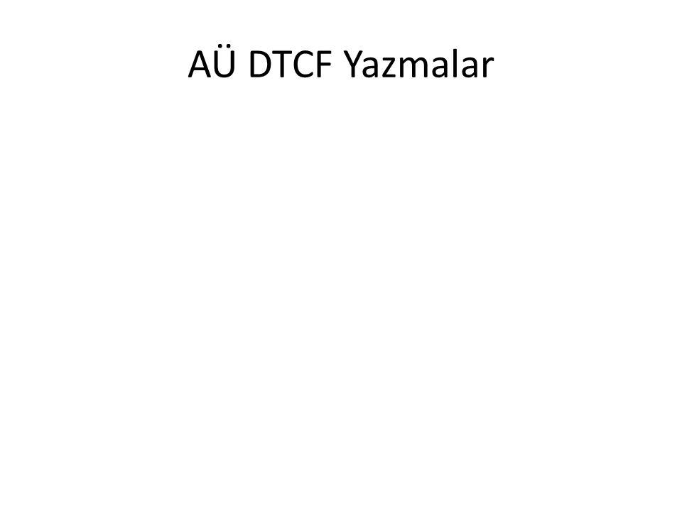 AÜ DTCF Yazmalar