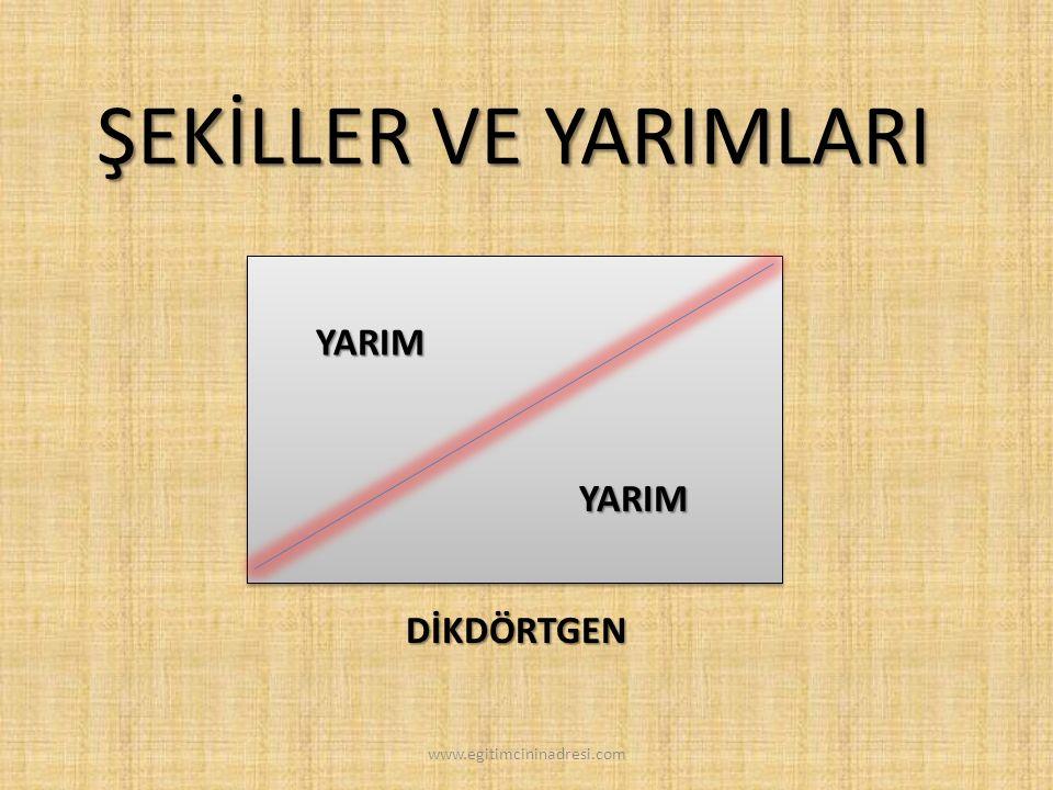 ÇEMBER ŞEKİLLER VE YARIMLARI YARIM YARIM www.egitimcininadresi.com