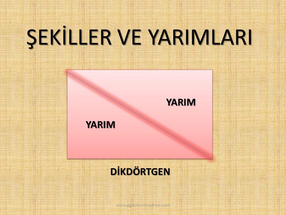 ÇEMBER ŞEKİLLER VE YARIMLARI YARIMYARIM www.egitimcininadresi.com