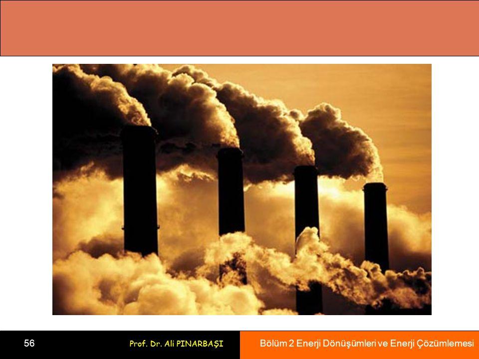 Bölüm 2 Enerji Dönüşümleri ve Enerji Çözümlemesi 56 Prof. Dr. Ali PINARBAŞI