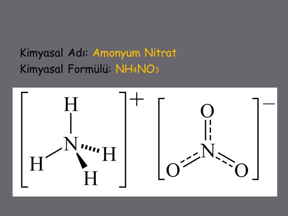  Potasyum nitratla (KNO 3 ) beraber gübre yapımında kullanılır.