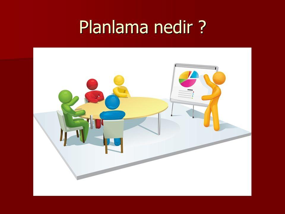Planlama nedir ?