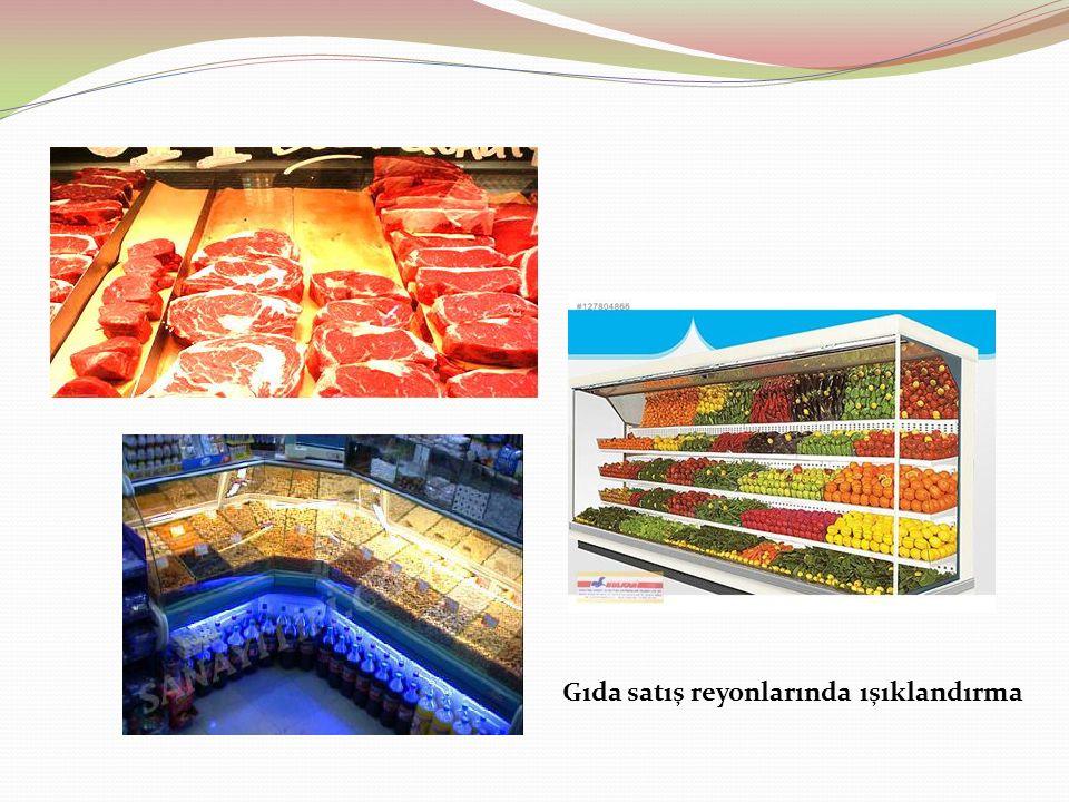 Gıda satış reyonlarında ışıklandırma