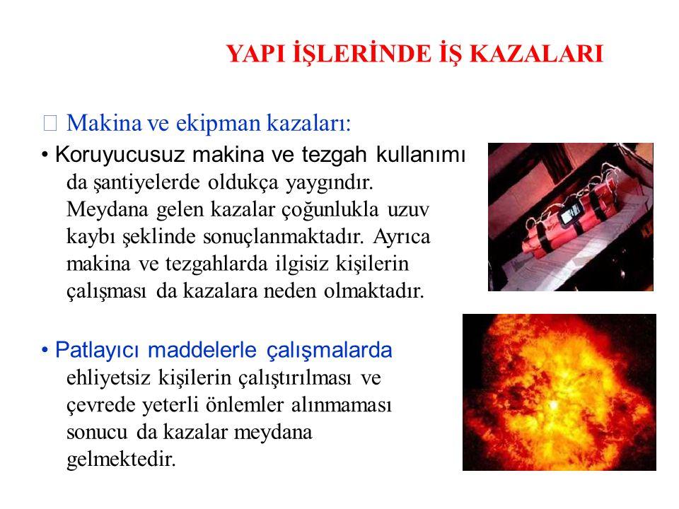 KALDIRMA-TAŞIMA İŞLERİNDE GÜVENLİK Gırgır vinç ile ilgili güvenlik önlemleri Kancanın kovadan kurtulmaması için, mandal, kilitli mandal veya bağlama gibi uygun tertibat bulunmalıdır.