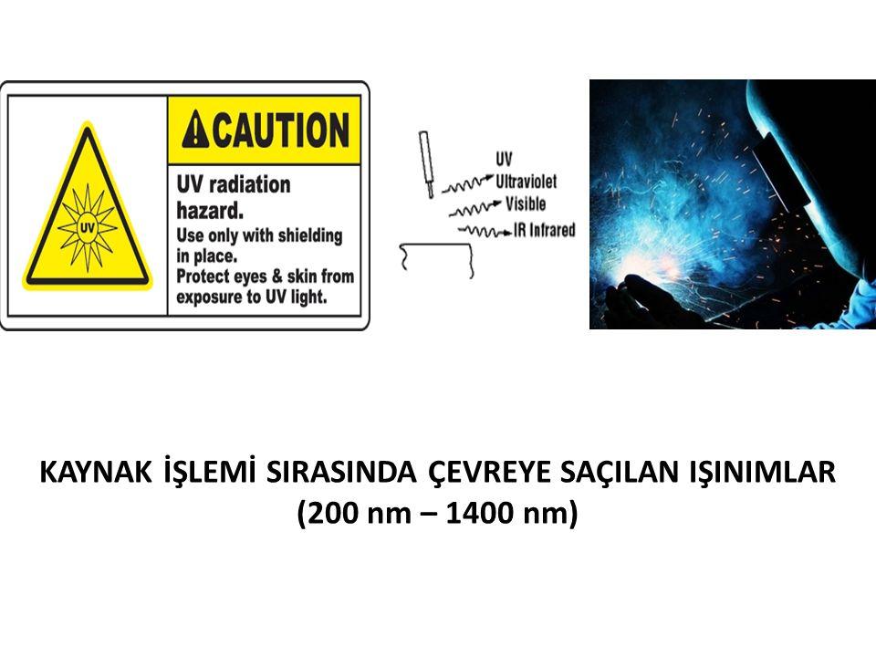 KAYNAK İŞLEMİ SIRASINDA ÇEVREYE SAÇILAN IŞINIMLAR (200 nm – 1400 nm)