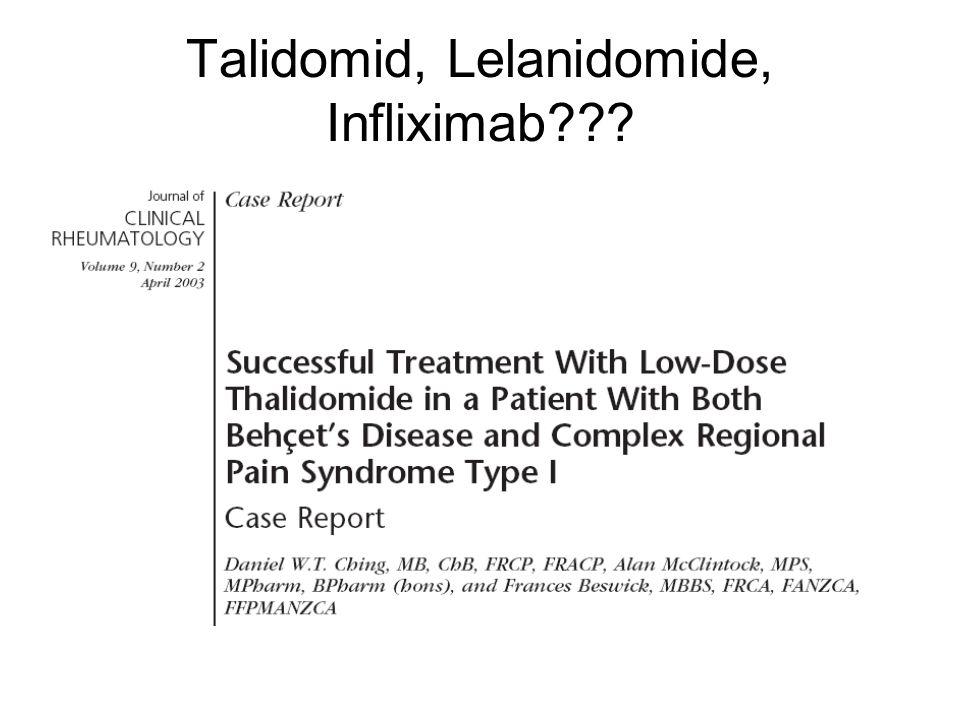 Talidomid, Lelanidomide, Infliximab???