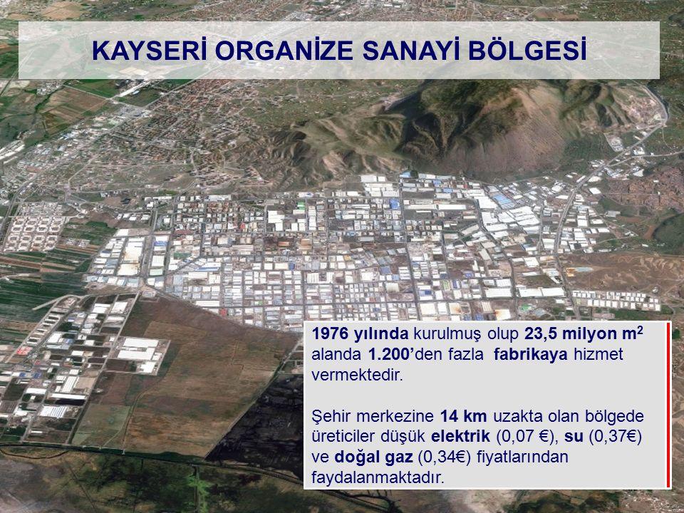 1976 yılında kurulmuş olup 23,5 milyon m 2 alanda 1.200'den fazla fabrikaya hizmet vermektedir. Şehir merkezine 14 km uzakta olan bölgede üreticiler d
