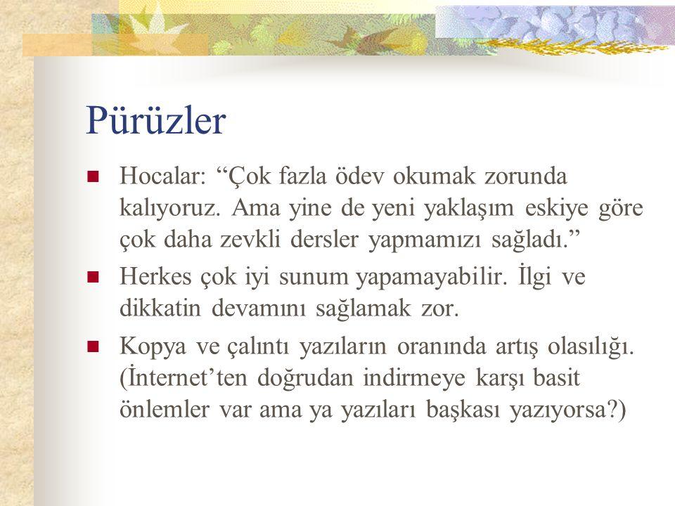 Pürüzler Hocalar: Çok fazla ödev okumak zorunda kalıyoruz.
