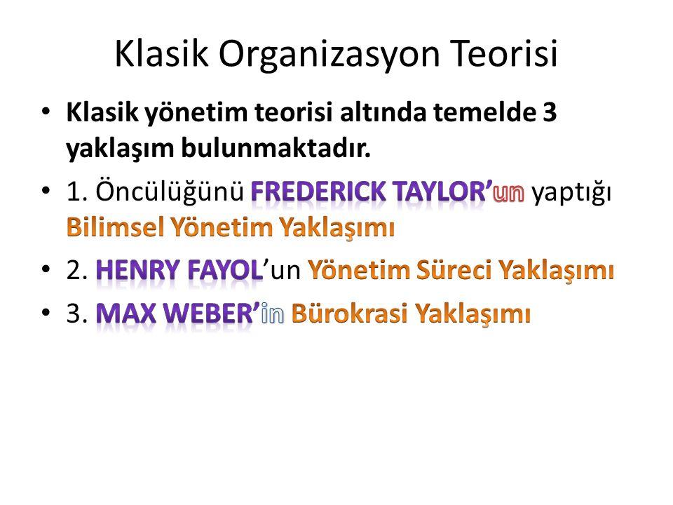 Klasik Organizasyon Teorisi