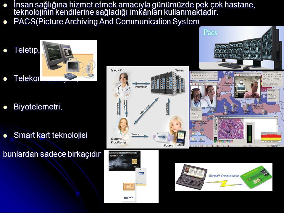 İnsan sağlığına hizmet etmek amacıyla günümüzde pek çok hastane, teknolojinin kendilerine sağladığı imkânları kullanmaktadır. İnsan sağlığına hizmet e
