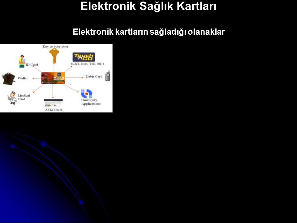Elektronik Sağlık Kartları Elektronik kartların sağladığı olanaklar