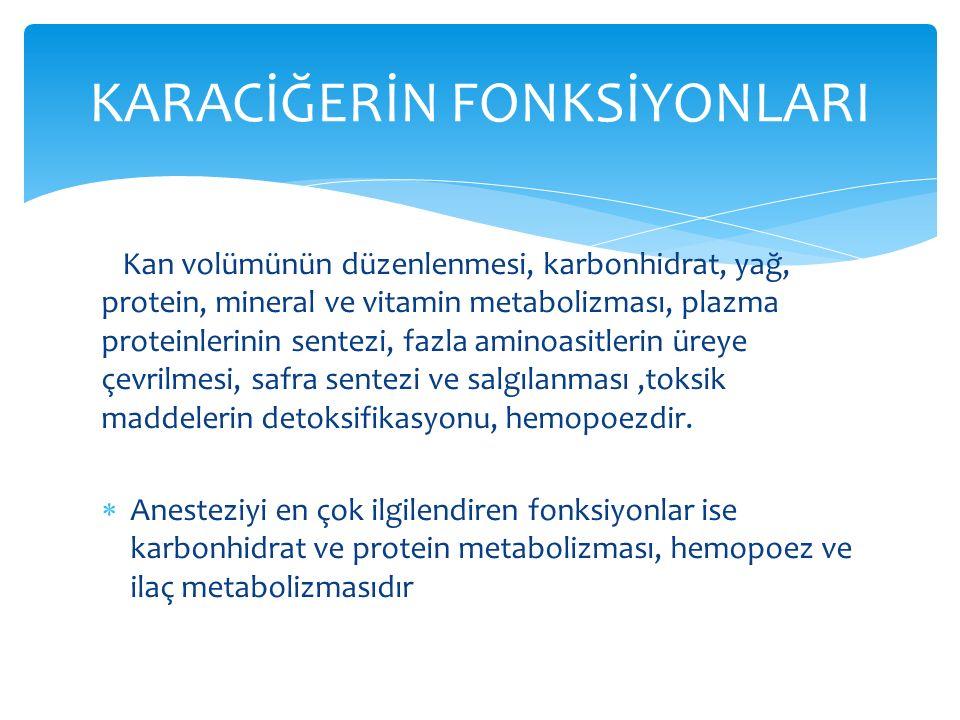 Temel amaç; var olan hepatik fonksiyonları korumak ve karaciğere zarar verecek uygulamalardan kaçınmaktır.