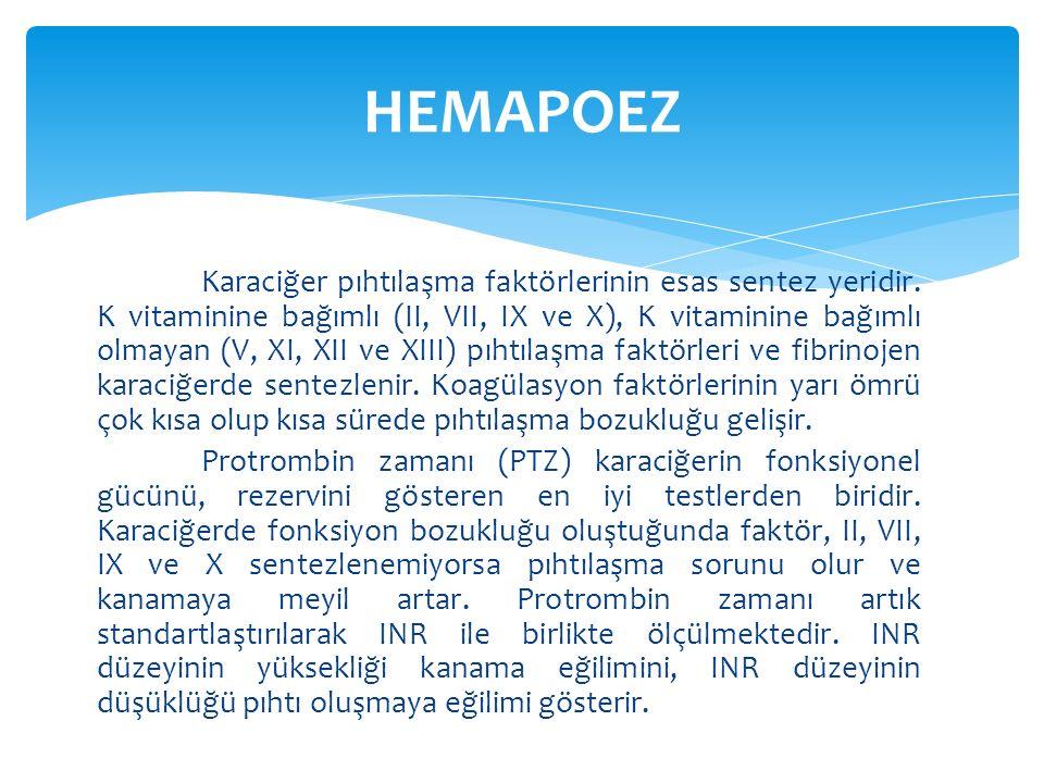  Hepatik kan akımının korunması için karaciğer kan akımını azaltan hipotansiyon, hiperkapni gibi sempatik stimülasyona yol açan durumlardan yüksek hava yolu basıncı ile kontrole ventilasyon uygulamasından kaçınılır.