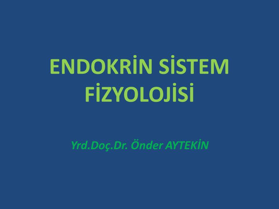 Organizmada bir çok aktivitenin koordinasyonunu ve düzenini sağlayan iki sistemden biri sinir sistemi diğeri endokrin veya hormonal sistemdir.