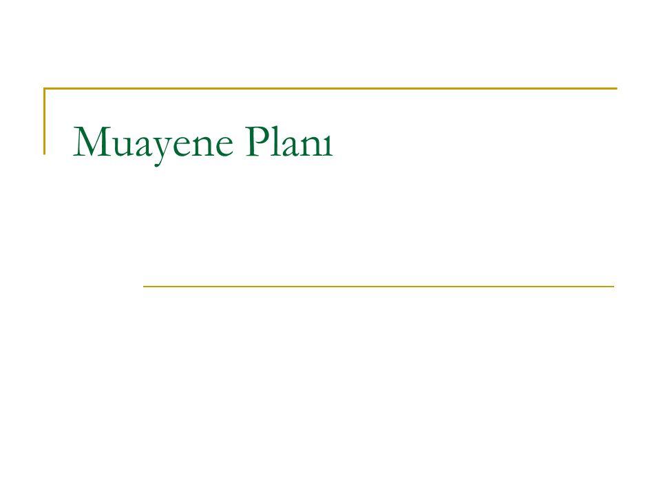 Muayene Planı