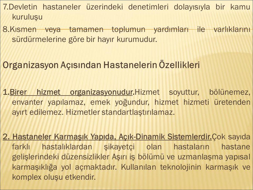 HASTANE YÖNETİM MODELLERİNİN ULUSLARARASI KARŞILAŞTIRMASI  Türkiye de hastanelerin verimli ve etkin olamamalarında çeşitli etmenlerin rolü bulunmaktadır.