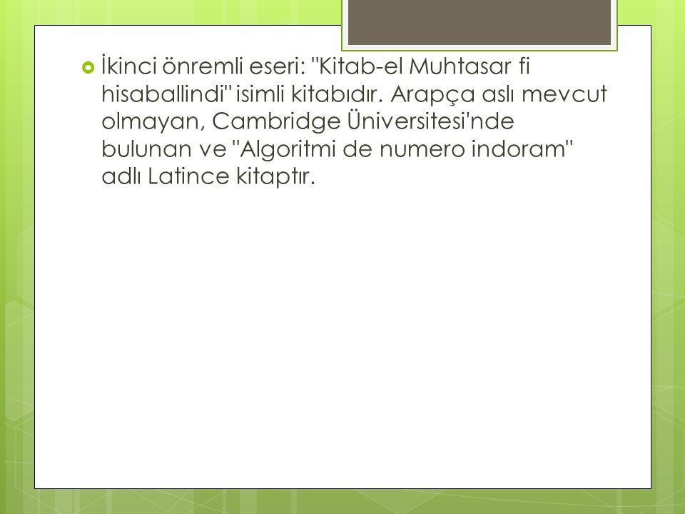 Abdulhamit İbn Türk  Tarihte Türk lakabını taşıyan nadir Türk bilim adamlarındandır.