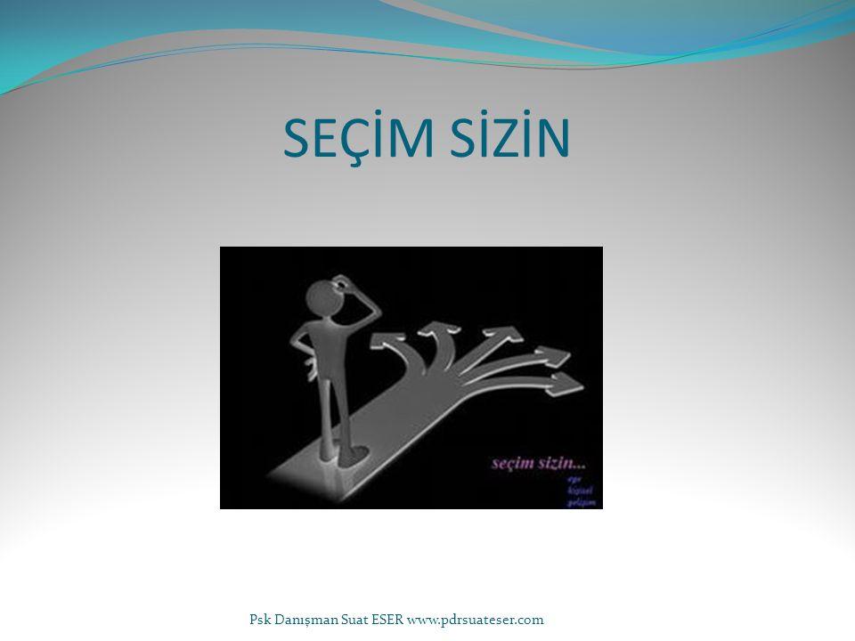 SEÇİM SİZİN Psk Danışman Suat ESER www.pdrsuateser.com
