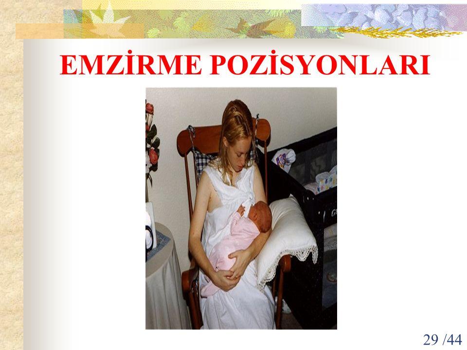 EMZİRME POZİSYONLARI 29 /44