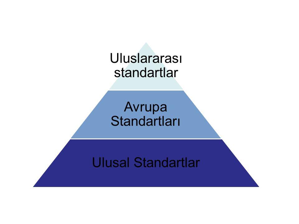 Uluslararası standartlar Avrupa Standartları Ulusal Standartlar