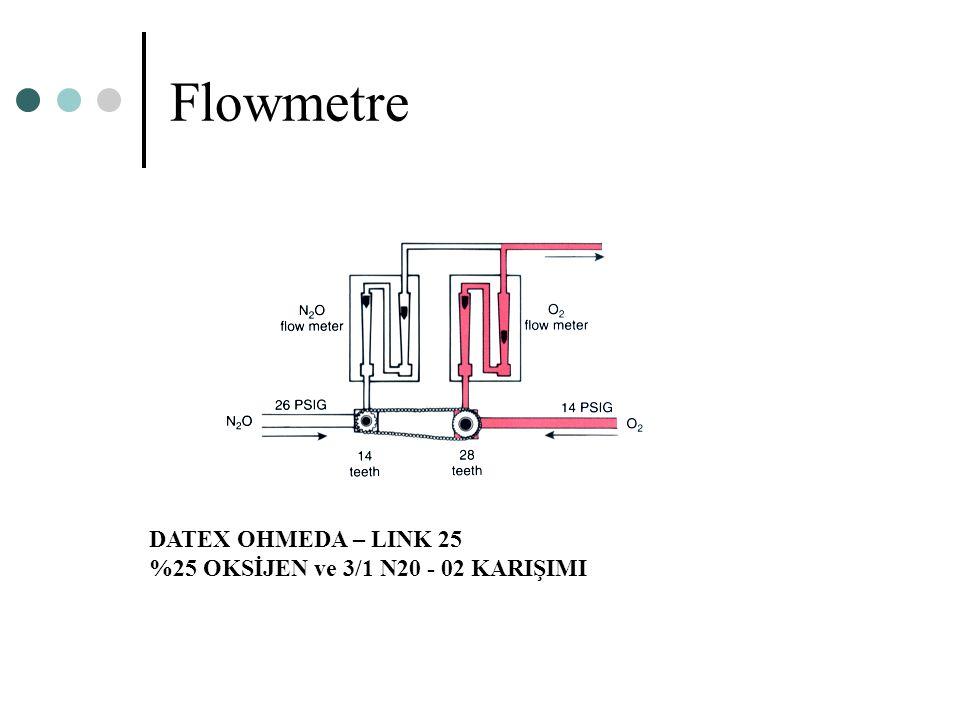 Flowmetre DATEX OHMEDA – LINK 25 %25 OKSİJEN ve 3/1 N20 - 02 KARIŞIMI