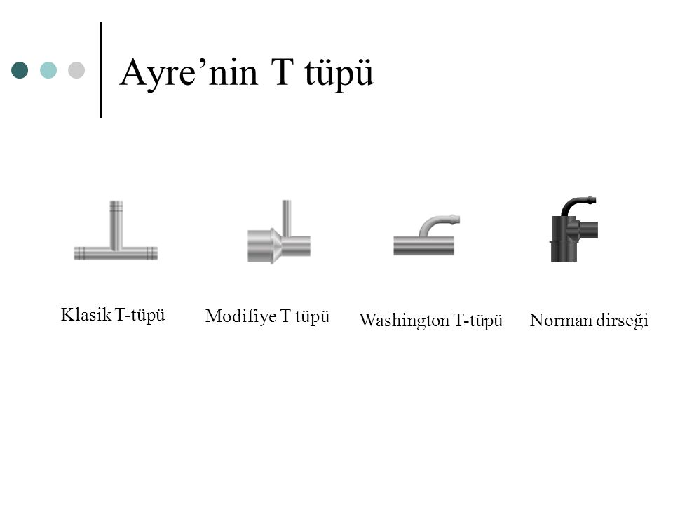 Ayre'nin T tüpü Norman dirseğiWashington T-tüpü Klasik T-tüpü Modifiye T tüpü